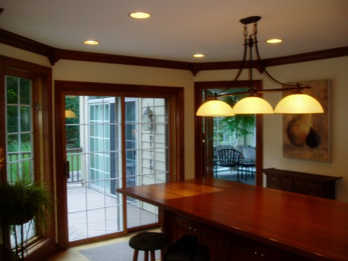 Dining Area With Custom Table